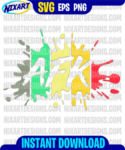 AFK svg and png files for cutting and print