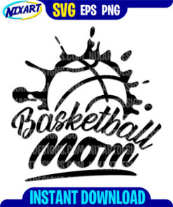 Basketball mom svg and png files for cutting and print