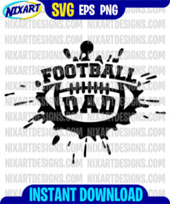 Football dad svg and png files for cutting and print