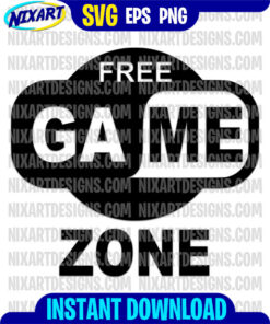 Free Game Zone svg and png files for cutting and print
