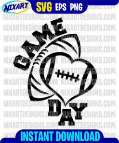 Game Day svg and png files for cutting and print
