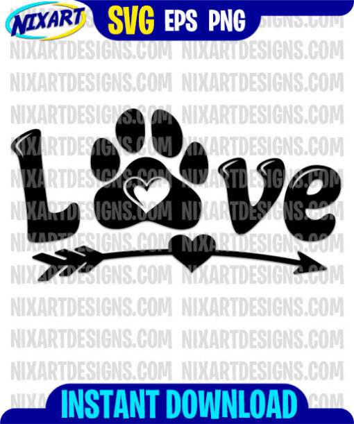 Love svg and png files for cutting and print