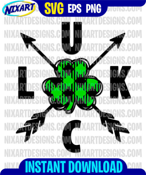 Luck svg and png files for cutting and print