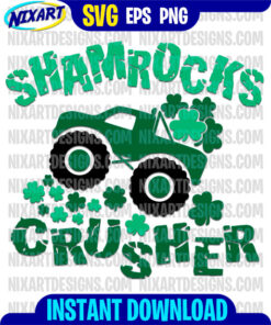 Shamrocks Crusher svg and png files for cutting and print