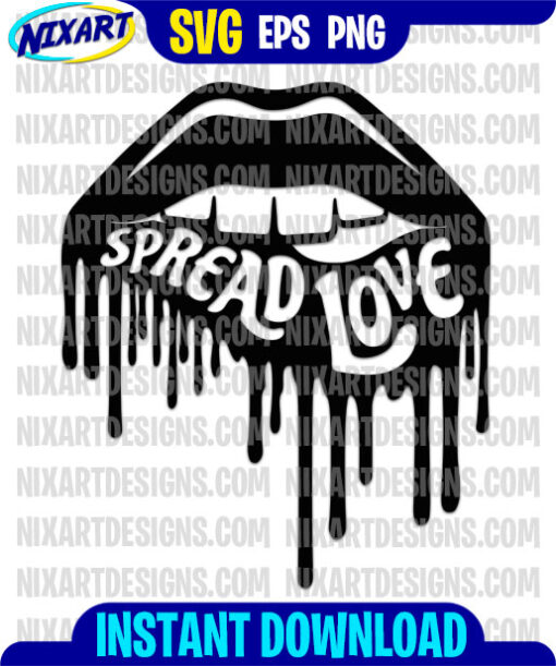 Spread Love svg and png files for cutting and print