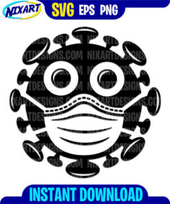 Baby Virus svg and png files for cutting and print.