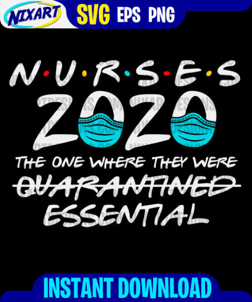 Nurses svg and png files for cutting and print. Version for Black