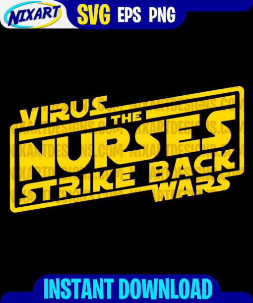Virus wars svg and png files for cutting and print. Version for Black