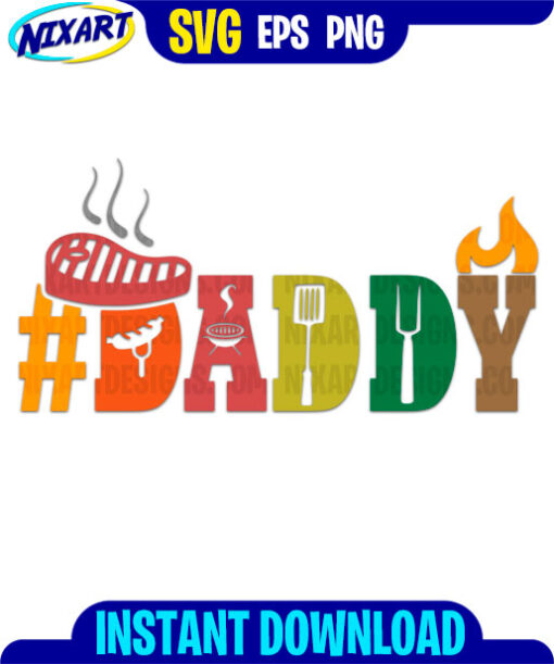 Daddy svg and png files for cutting and print.