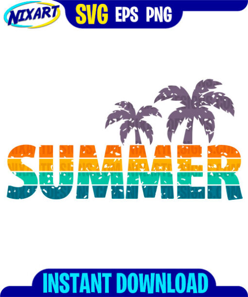 Summer svg and png files for cutting and print.