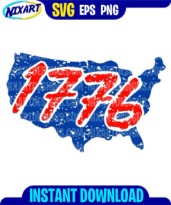 1776 USA Map svg and png files for cutting and print.