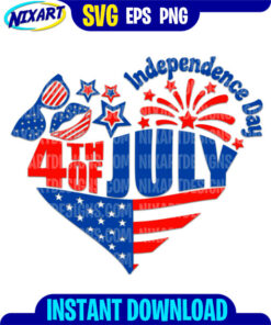 4th of July Independence Day svg and png files for cutting and print.