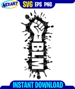 BLM svg and png files for cutting and print.