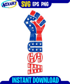 USA Fist svg and png files for cutting and print.