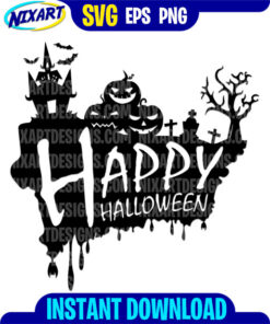 Happy Halloween svg and png files for cutting and print.