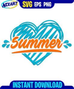 Love Summer svg and png files for cutting and print.