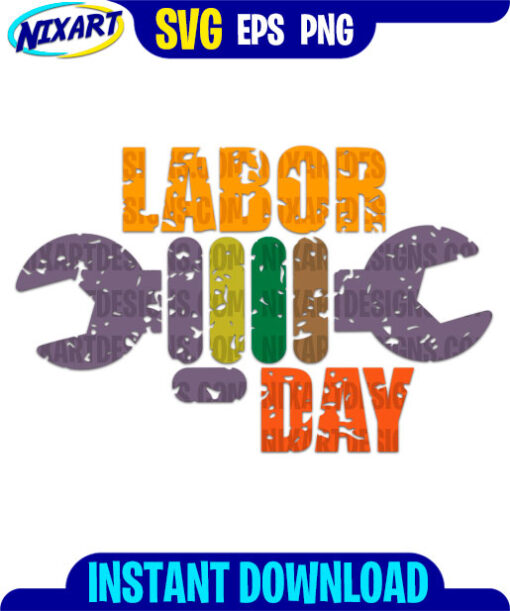 Labor Day svg and png files for cutting and print.