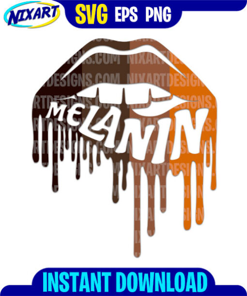Melanin Lips svg and png files for cutting and print.