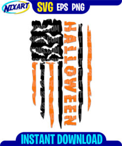 Halloween Flag svg and png files for cutting and print.