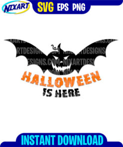 Halloween is Here svg and png files for cutting and print.