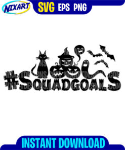 Squadgoals Halloween svg and png files for cutting and print.