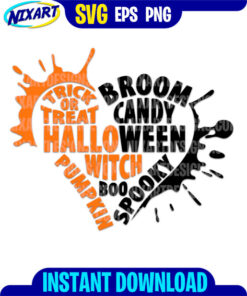 Halloween Heart svg and png files for cutting and print.